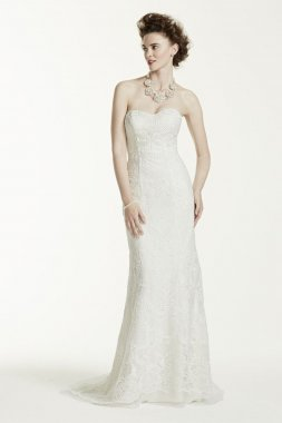 Petite Lace Wedding Dress with Pearl Beading Style 7CWG641