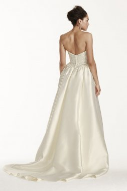 Silk Wedding Dress with Beaded Detail Style CWG703