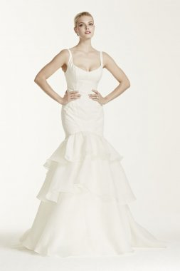 Petite Tiered Trumpet Wedding Dress Style 7ZP341500