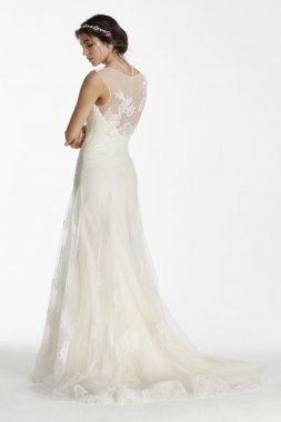 Extra Length Tulle Tank Wedding Dress with Beads Style 4XLMS251114