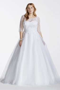 Tulle Ball Gown with Illusion Bodice Style 9WG3742