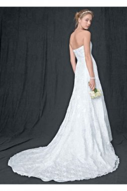 Extra Length A-line Gown with Beaded Motif Detail Style 4XLWG9821