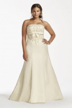 Lace Trumpet Gown with Beaded Metallic Lace Style 9OP1256
