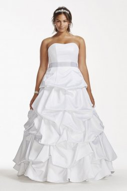Strapless Satin Pick Up Ball Gown Style 9T9309