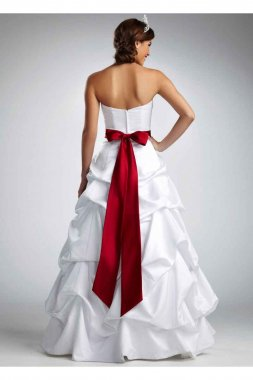 Strapless Satin Pick Up Ball Gown Style T9309