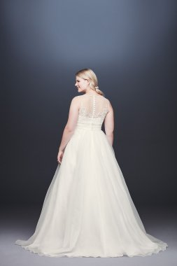 Appliqued Organza A-line Plus Size Wedding Dress Collection 9WG3944