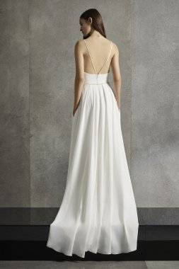 Beaded Plunging-V Wedding Dress VW351581
