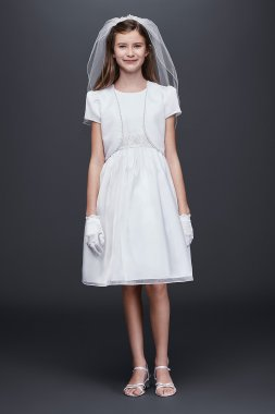Satin and Organza Communion Dress and Jacket American Princess