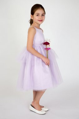 Spaghetti-Strap Tulle Flower Girl Dress 101UA