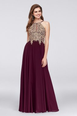 New Coming Lace and Chiffon Long A-line 1183X Style Prom Party Gowns