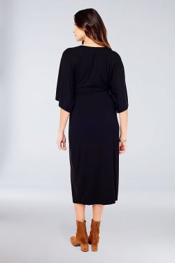 Jersey Dolman-Sleeve Maternity Midi Dress Ingrid and Isabel 1504