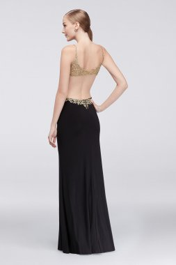 Sexy New Open Back Long Jersey Beaded Embroidery Prom Gown 57379D
