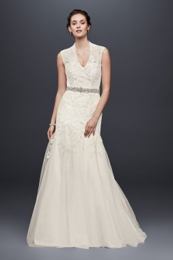 Petite Cap Sleeve Wedding Dress Style 7MS251005