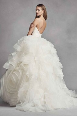 Romantic Spaghetti Strap Ball Gown Style 7VW351371