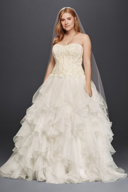 Organza Ruffle Skirt Wedding Dress Style 8CWG568