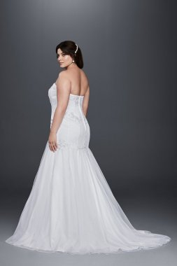 Strapless Sweetheart Ncekline Long Plus Size 9OP1285 Trumpt Wedding Gown