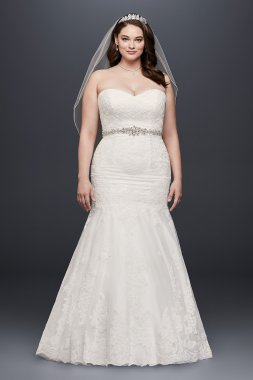 Sweetheart Trumpet Gown with Beaded Sash Style 9V3680