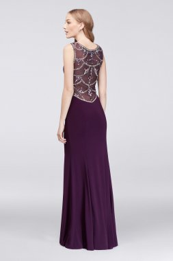 Long Jersey A15685D Style Beads Embellished Sweetheart Dress