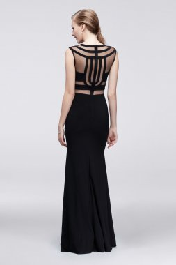 Illusion Cutouts Embellished Long Sexy A18522 Jersey Prom Gowns