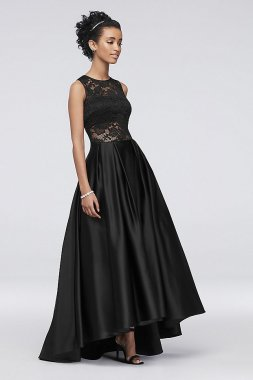 Illusion Lace Satin Ball Gown A19412