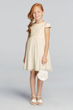 As-Is All Over Lace Short Sleeve A-line Dress