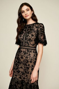 Cara Embroidered Tulle Dress BEI18930M