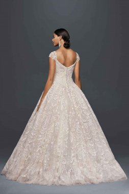LIMITED EDITION Fashion Cap Sleeve Classic Lace Embroidered Ball Gown for Brides CWG766