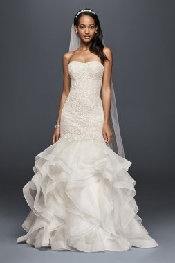 New Coming Hot Sale CWG769 Style Scroll Lace Trumpet Wedding Dress