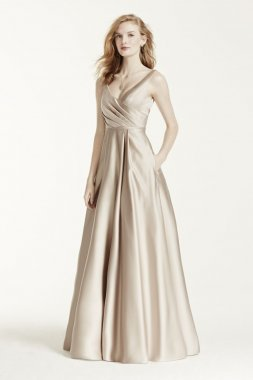 Satin Tank Long Ball Gown Style F15741