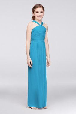Halter Neck Long Pleated JB9597 Style Junior Bridesmaid Dresses