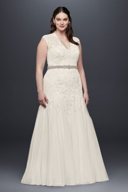 Cap Sleeve Wedding Dress Style MS251005W