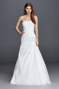 Plus Size Strapless Side Draped OP1247 Style Wedding Dress