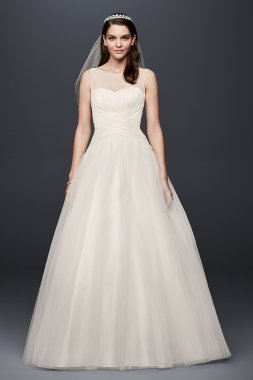 Illusion Sweetheart Neckline Organza Ball Gown Wedding Dress Style OP1334