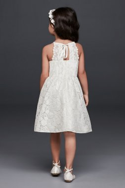 Illusion Lace Tie-Back Halter Flower Girl Dress Collection