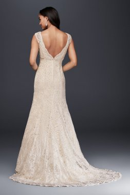 All Over Beaded Lace Trumpet Gown Style T9612