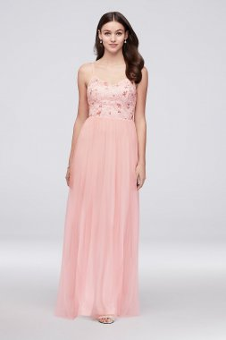 Tulle Bridesmaid Dress with Embroidered Bodice Reverie W60002