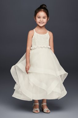 New Arirval Lace and Tulle Flower Girl Dress with Full Skirt WG1371