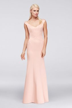 Long Trumpt Satin Portrait Neckline ZP281722 Style Prom Gown
