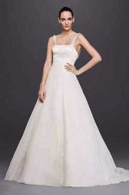 Long Trumpt Satin A-Line Wedding Dress ZP341683
