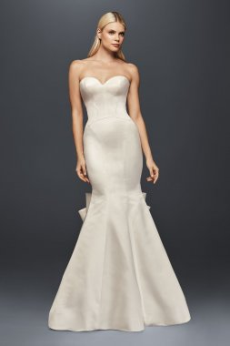 Allure Long Strapless Sweetheart Neckline Seamed Satin Wedding Dress by ZP341718