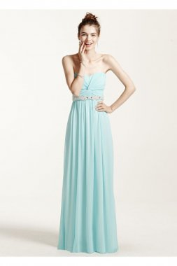 Strapless Prom Dress with Ruched Bust and Beading Style 8420DW3B