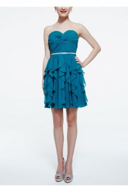 Strapless Twisted Front Chiffon Dress Style 9560KG1C