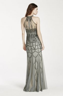 Sleeveless All Over Beaded Dress Style 061908420