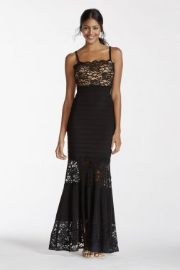 Illusion Lace Banded Dress Style XS7570