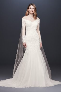 Long Sleeve Off-the-Shoulder Trumpet Wedding Dress Collection WG3943