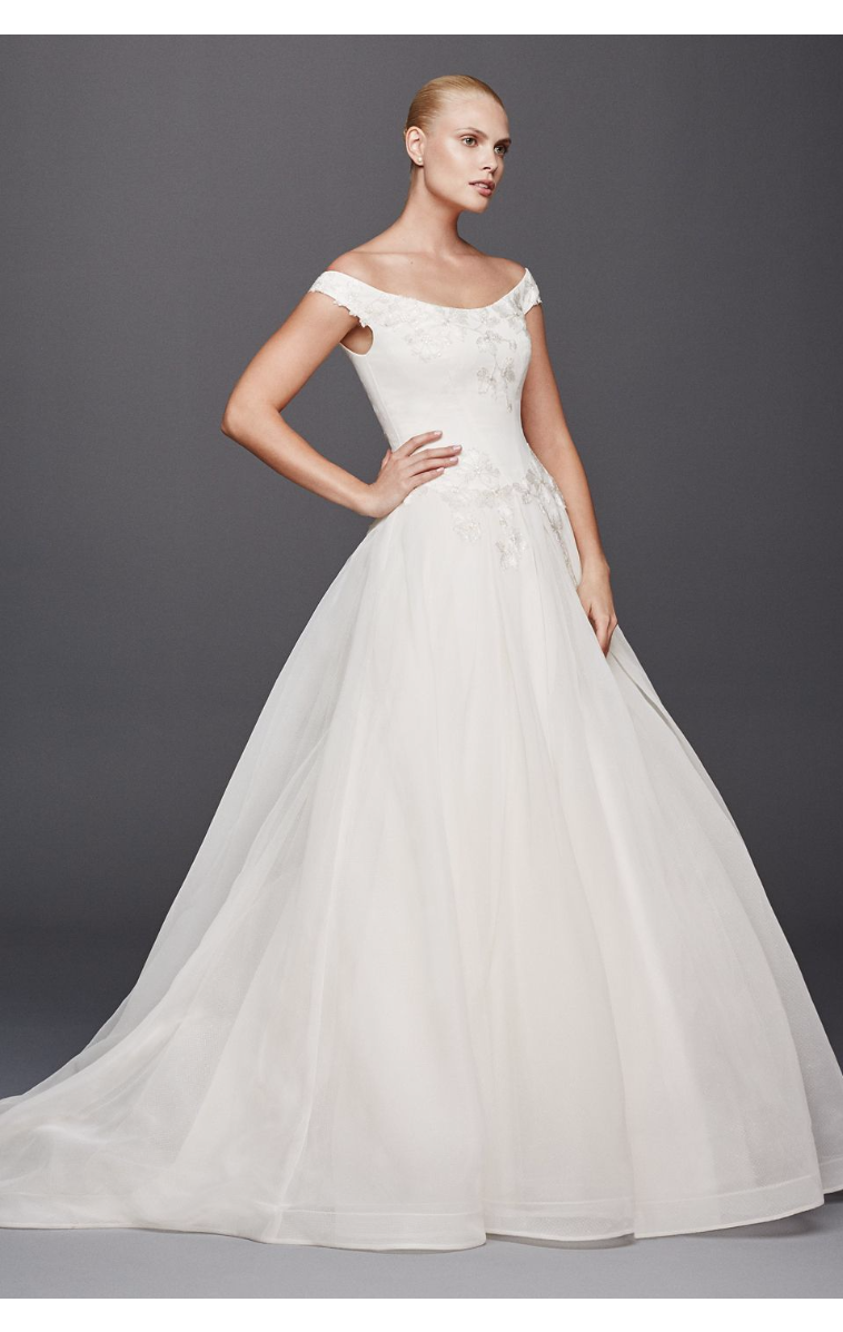 New Coming Off the Shoulder Delicate Ball Gown Style Bridal Dresses ZP341626
